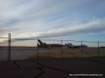 Avion în terminalul aeroportului din Liberal, Kansas