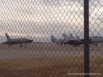 Avioane în terminalul aeroportului din Liberal, Kansas
