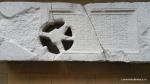 Lespede funerara distrusa in parte de maini criminale, probabil reprezentanti ai curentului New Age - Muzeul Tropaeum Traiani - Adamclisi, Romania (2)