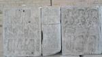 Metopa Nr. XLIII Stegari prezentand drapelele imparatului -Muzeul Tropaeum Traiani - Adamclisi, Romania (3)